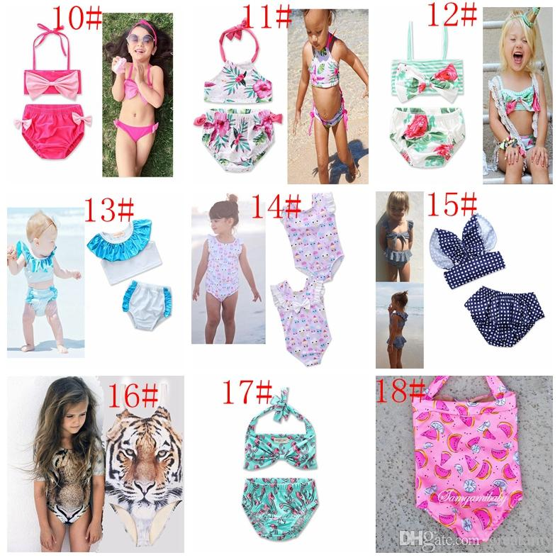 Kids Unicorn Girls Floral Swimwear Swimsuit Clothing Two-Pieces Bikinis Beach Bathing Suit One-Pieces Beachwear Bikini Suit