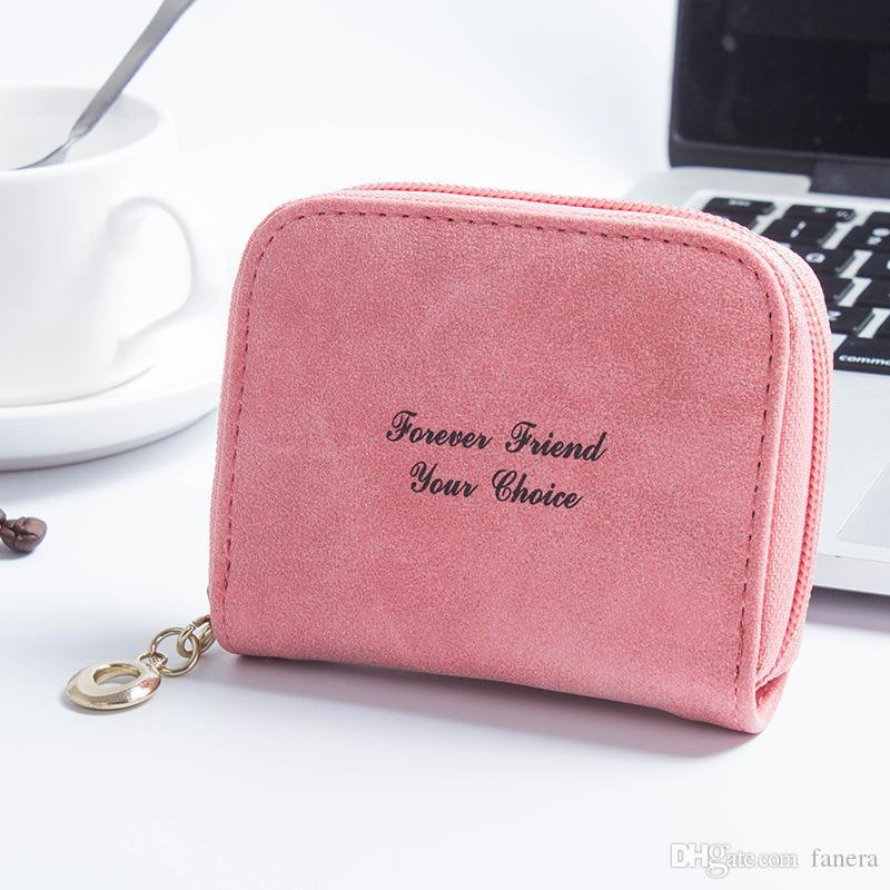 28c4bbc7bcda Wholesale- Leather Coin Purse Plush Cute Small Change Purses Wallet ...