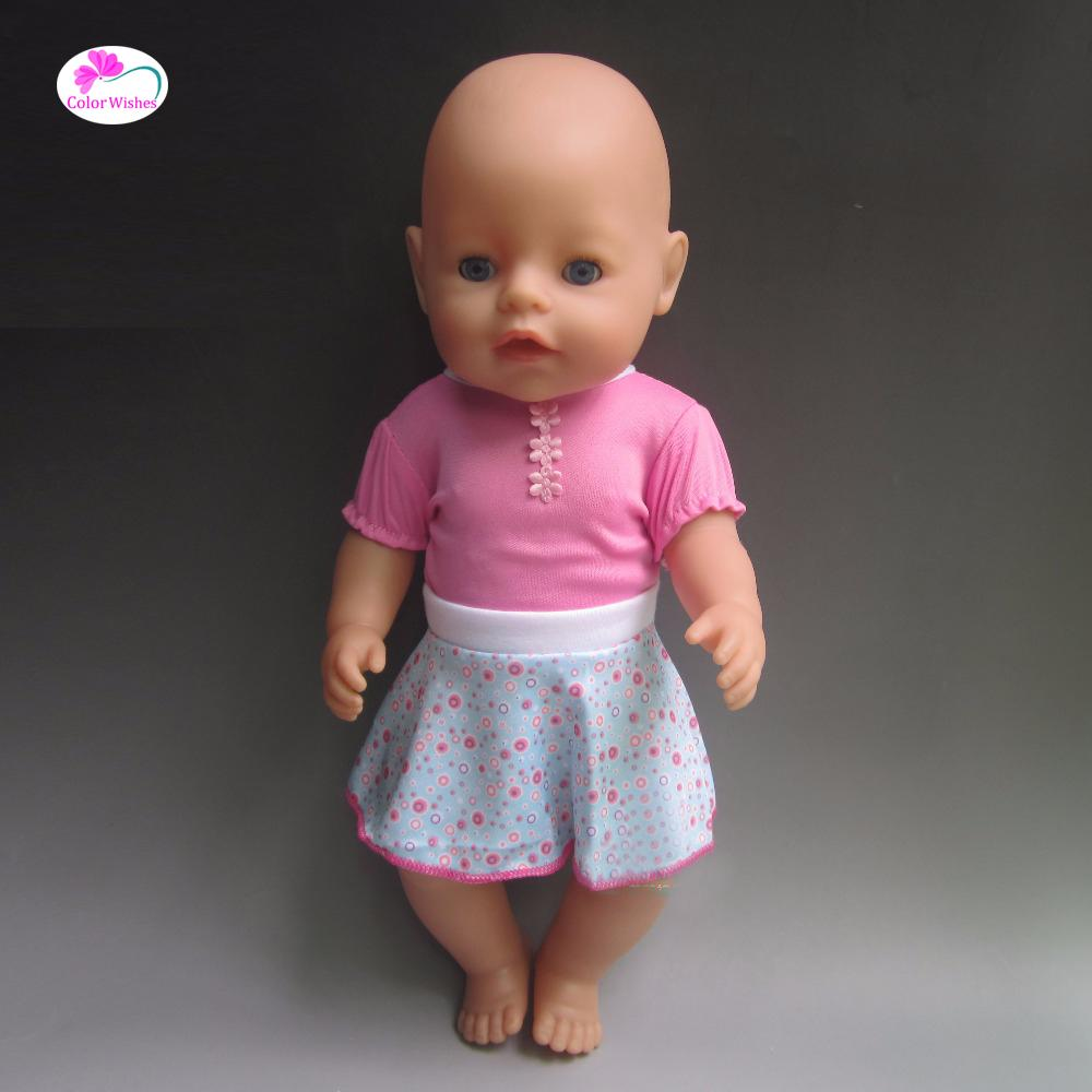 Подходит 43 см Zapf ребенок родился кукла одежда повседневная одежда Рождественский подарок кукла аксессуары нет куклы