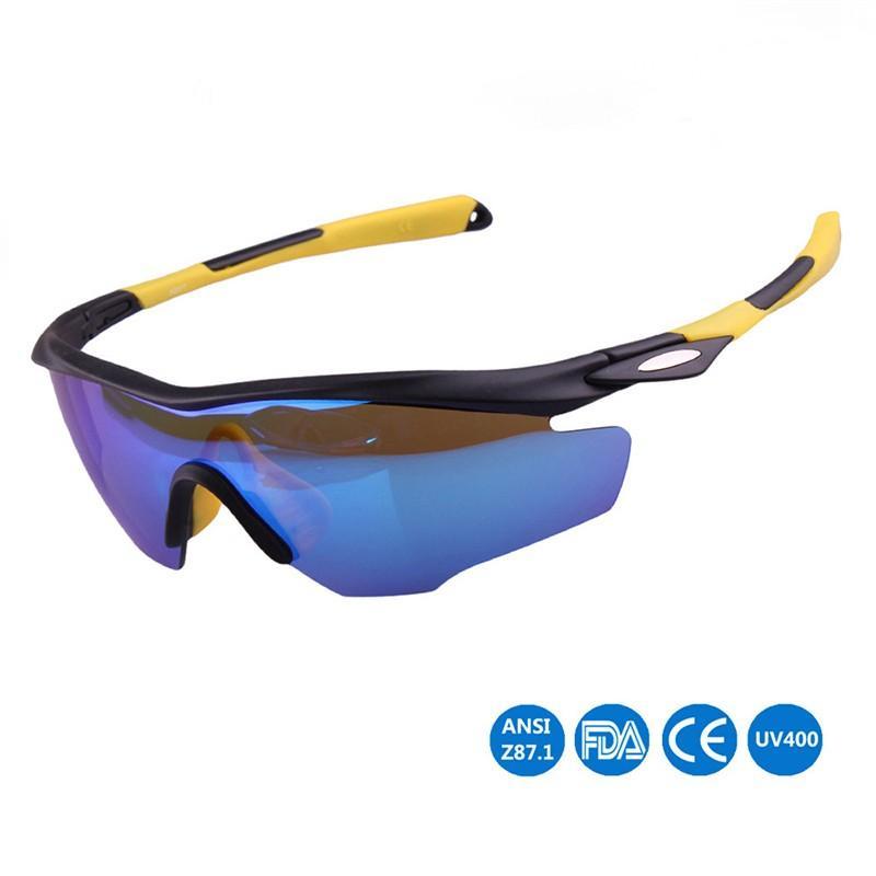 Compre Ao Ar Livre Colorido Polarizada Ciclismo Óculos Óculos De Bicicleta  Óculos De Sol Esportes Anti Areia Anti UV 400 Esporte Óculos De Proteção Da  ... 54135199af