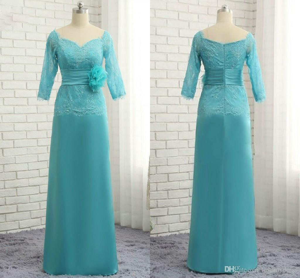 Elegant Lace Chiffon Hunter Mother Of The Bride Groom Dresses Zipper ...
