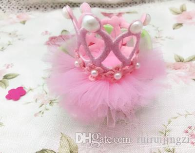 2018New Dog Grooming Lovely Princess Rhinestone Crown Clip Pet Dog Hair Decoration Elegant Hairpin