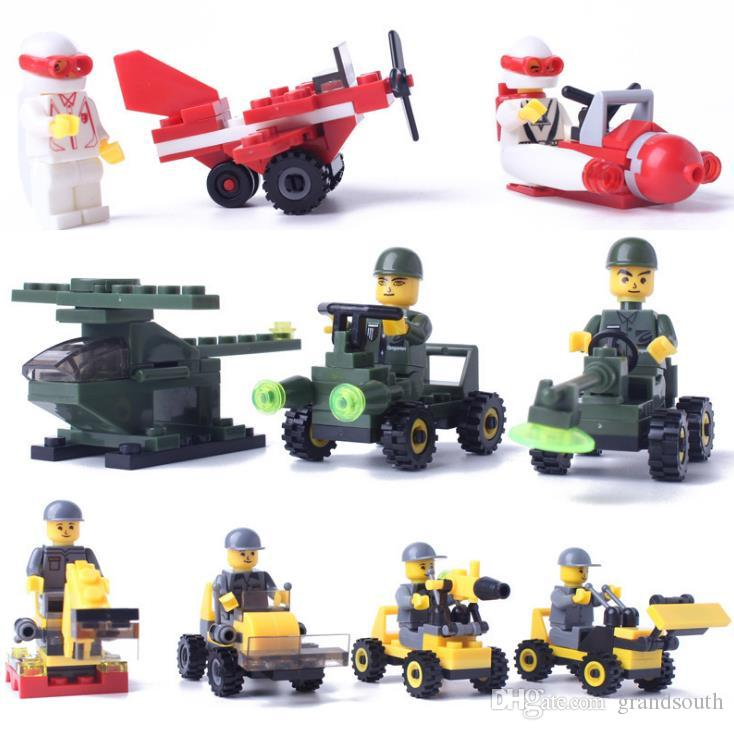 18 Designs Toys Building Block Anime Diamond Plastic Blocks Figures Bricks Toys Gift Mini Excavator Plane Race Car Brick Toy With Retail Box