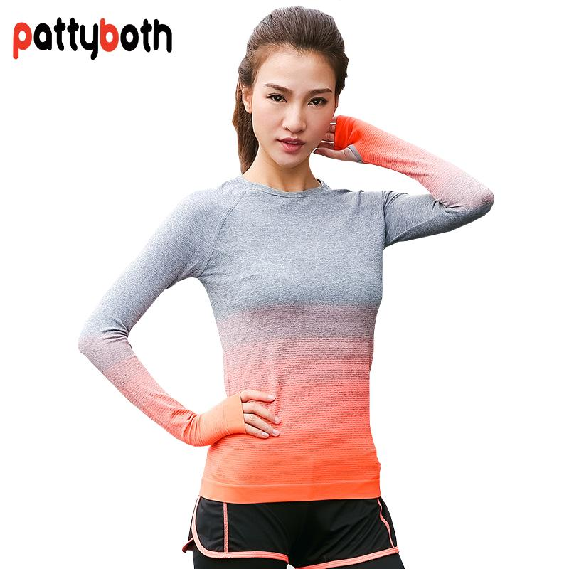 2019 Patty Both Yoga Shirt Women Gym Sports Fitness Women Running Clothes  For Solid Long Sleeve Spring Autumn Base Shirt From Cookki 51a60c565d899
