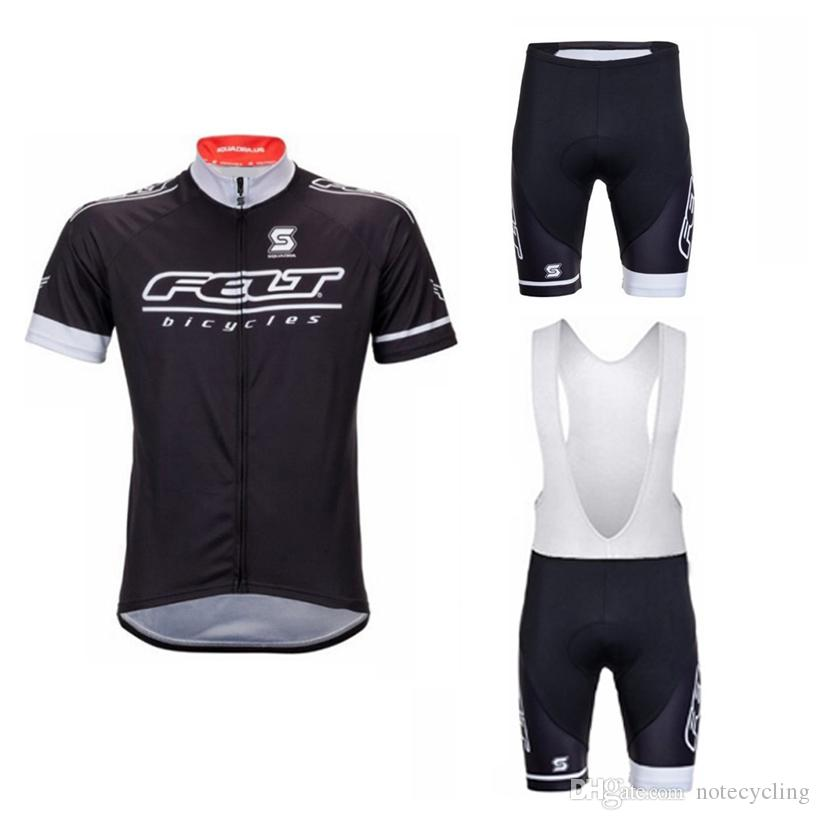 2018 Pro Team Felt Cycling Jersey Bike Bib  Shorts Set Summer Quick Dry Men  Bicycle Wear Culotte Mtb Riding Clothing H1501 Cycle Tops Bicycle Shirts  From ... 9d510a362