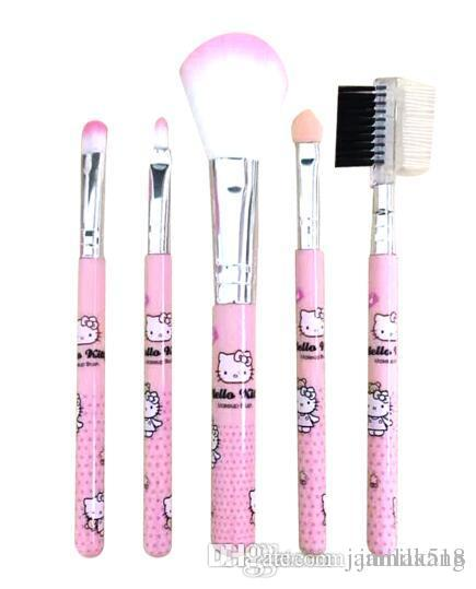 429186e37 Hello Kitty Pink Cute Makeup Brushes Kt Cosmetics Make Up Brushes Pincel  Maquiagem Eyeshadow Eyebrow Mascara Eye Makeup Brush Set Wholesale  Cosmetics Cheap ...