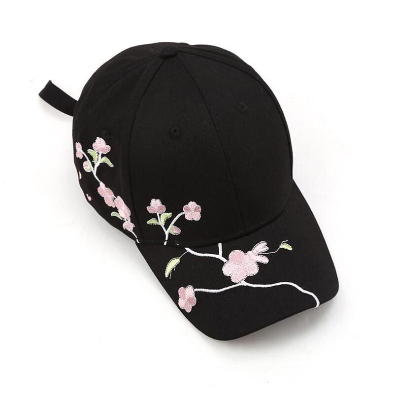 d2fc8fabd65 Seioum Women Summer Hats Symmetrical Flower Embroidery Built In Insulation  Knitted Hats Femme Baseball Cap Adjustable Trucker Hats Flexfit From  Shanjumou