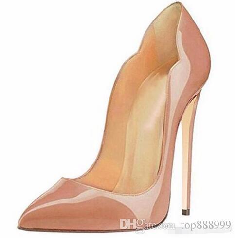 الأزياء 2018 جديد cymn الأسود أشار تو المتطرفة عالية الكعب الخنجر النساء مضخات الزفاف حزب اللباس أحذية size34-43