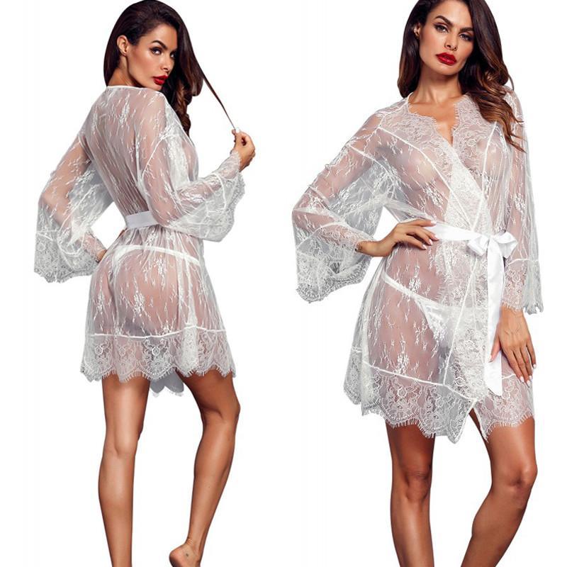 01b8c01b69 2019 Autumn New Ladies Women Sexy Sissy Lingerie Babydoll Nightwear  Underwear Lace Dress Gifts From Weilad