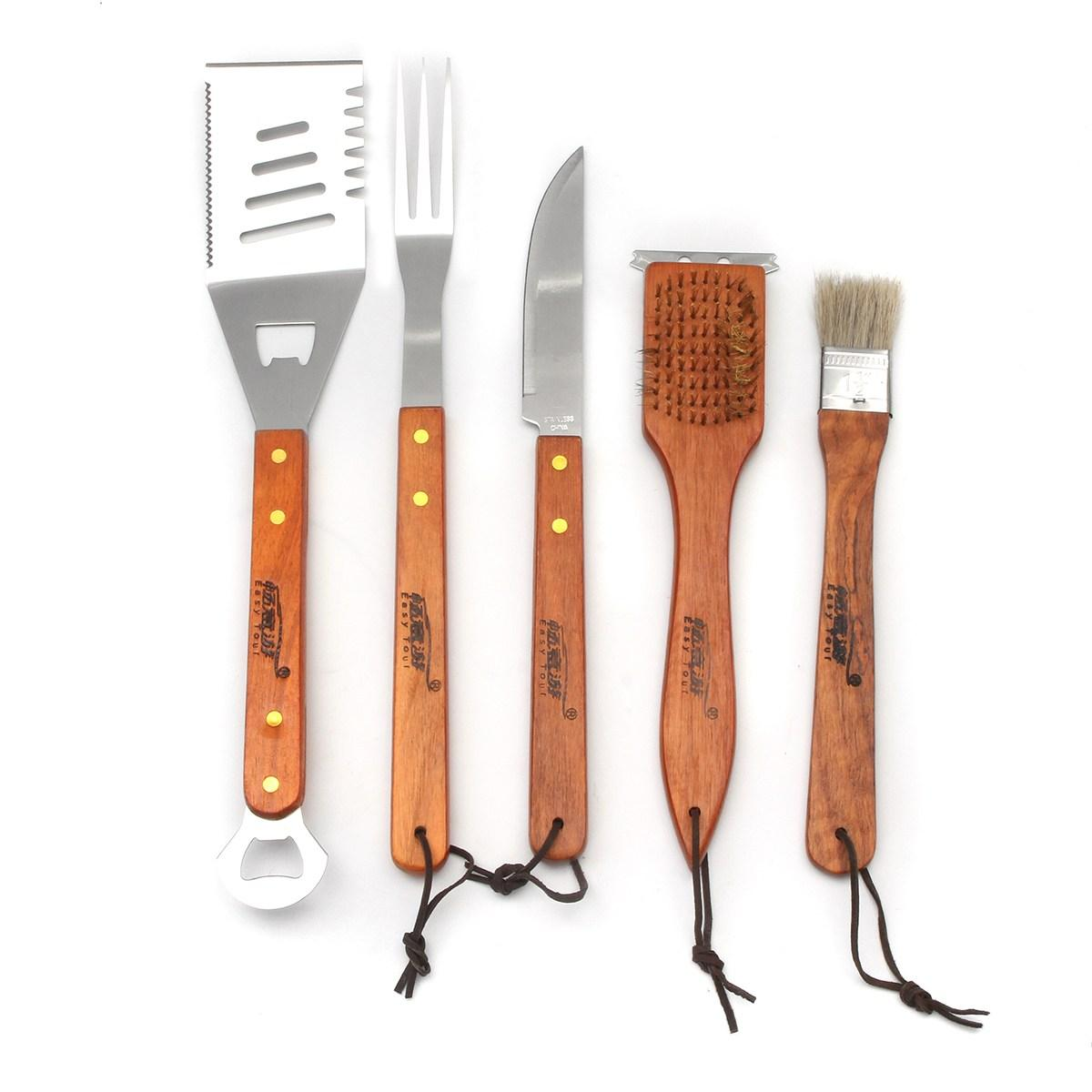 2020 Camping BBQ Tools Set Stainless Steel Cooking ...