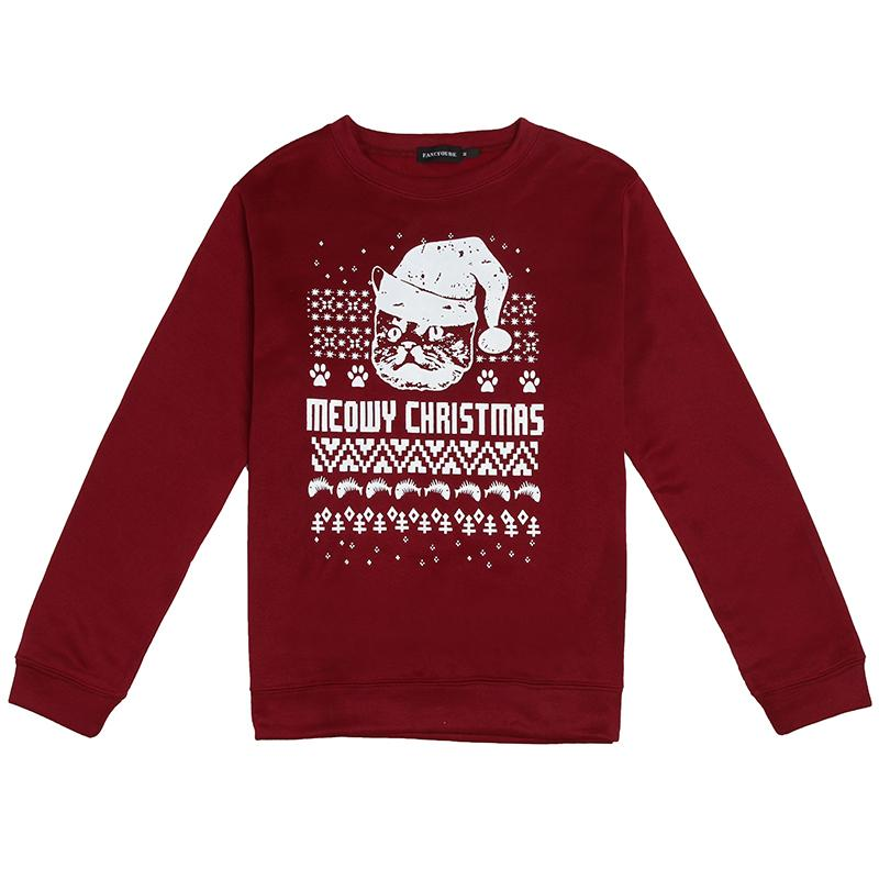 11153e80059b6 2019 2019 New Fashion Womens Mens Hoodies Cat Printed Tops Christmas  Celebrate Clothing Winter Tee Tops From New33