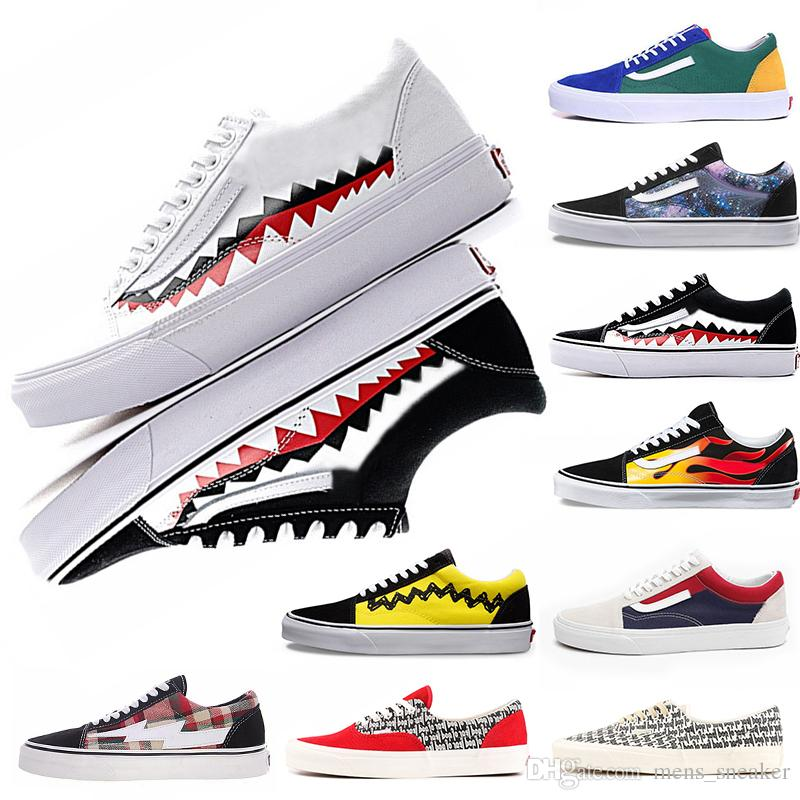 Acquista CONVERSE VANS Shoes Off The Wall White Originale Vold Skool Scarpe  Da Corsa Nero Blu Rosso Classico Uomo Donna Sneakers Di Tela Moda Cool ... 12f9270cf67