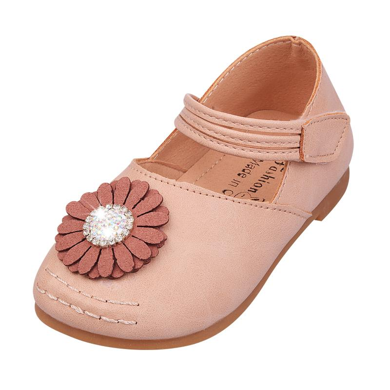 0f74670b8fe Little Girls Shoes Spring Autumn Shoes Baby Gift Children Toddler Nonslip  Sole White Pink Daisy Flowers Handmade Stock Black Patent Leather Toddler  Shoes ...