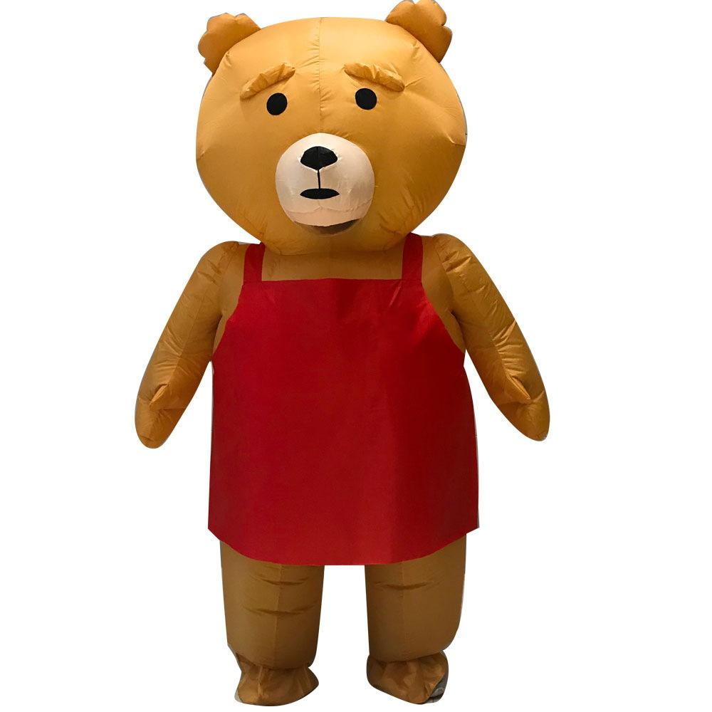 hot inflatable teddy bear mascot costume teddy costume adult fancy