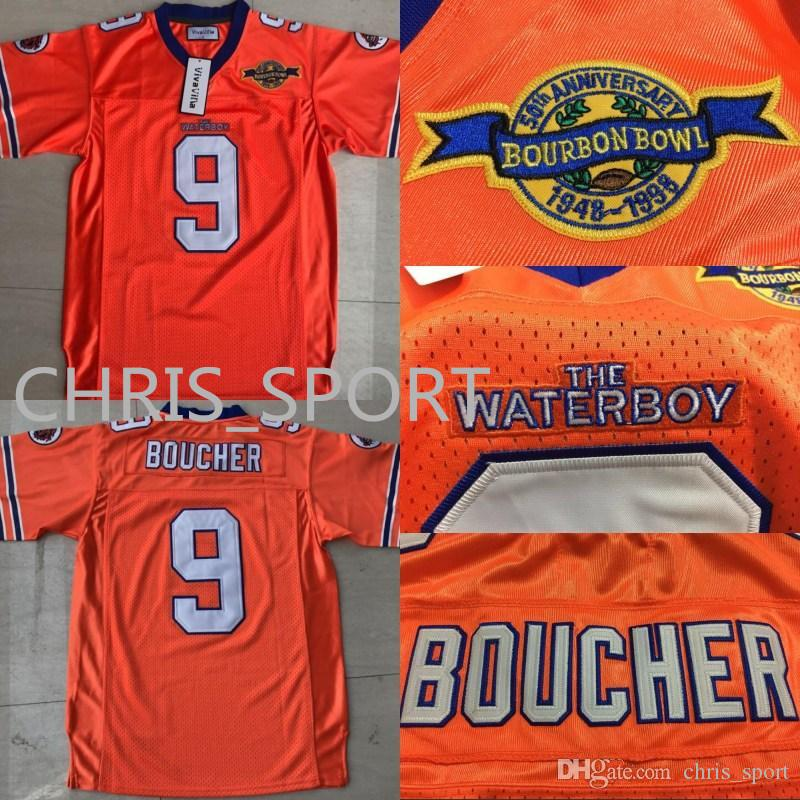 b5dfa7bcbf2 2019 New The Waterboy Football Jersey Stitched #9 Bobby Boucher Movie  Jerseys Orange Jersey Mud Dogs Jersey S 3XL From Chris_sport, $16.75 |  DHgate.Com