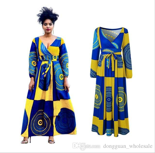 2018 Sale African Dress Autumn And Winter Digital Printing T Shirt