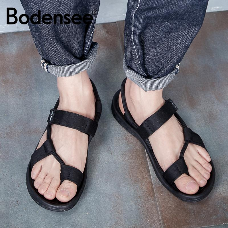 ba2335dd0 BODENSEE 2018 New Summer Beach Shoes Men Sandals Roma Leisure Breathable  Clip Toe Dual Purpose Sandal Male Soft Shoes Black Sandals Ladies Sandals  From ...