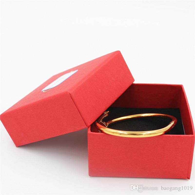 Braccialetti del chiodo di marca superiore di trasporto liberoBangles con i braccialetti di polsino d'argento della pietra Braccialetti YX024 dei braccialetti dell'acciaio inossidabile