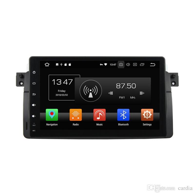 Автомобильный DVD-плеер для BMW E46 M3 9inch Andriod 8.0 4GB RAM с GPS, рулевым колесом, Bluetooth, радио