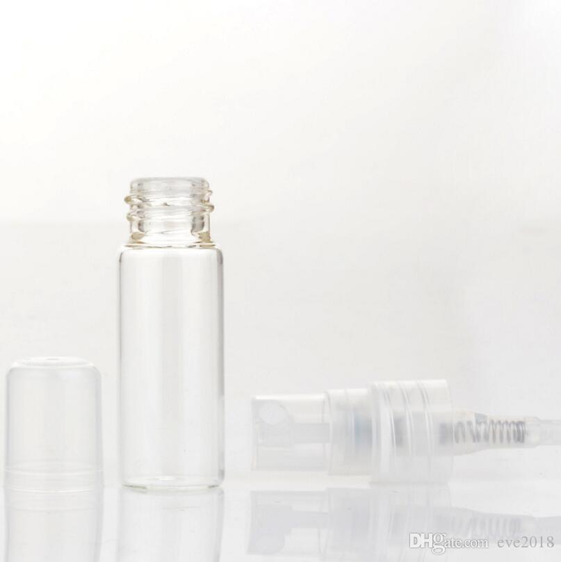 10 ML Mini Recarregável De Vidro Transparente Perfume Garrafa Vazada Da Amostra 10CC Bomba Cosmética Atomizador Tubo Tubo LX1178