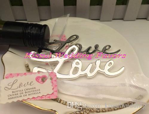 Unique Wedding Gift and Favor of Love bottle opener favor for wedding and party gift Bridal favors Silver Gold