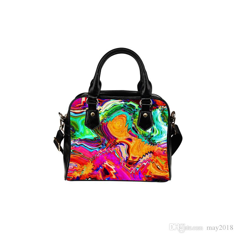 09196e51d4 Custom Logo Shoulder Bag Colorful Prints Handbag Art Style For Young Women  Made In China Factory Overnight Bags Bags For Women From May2018