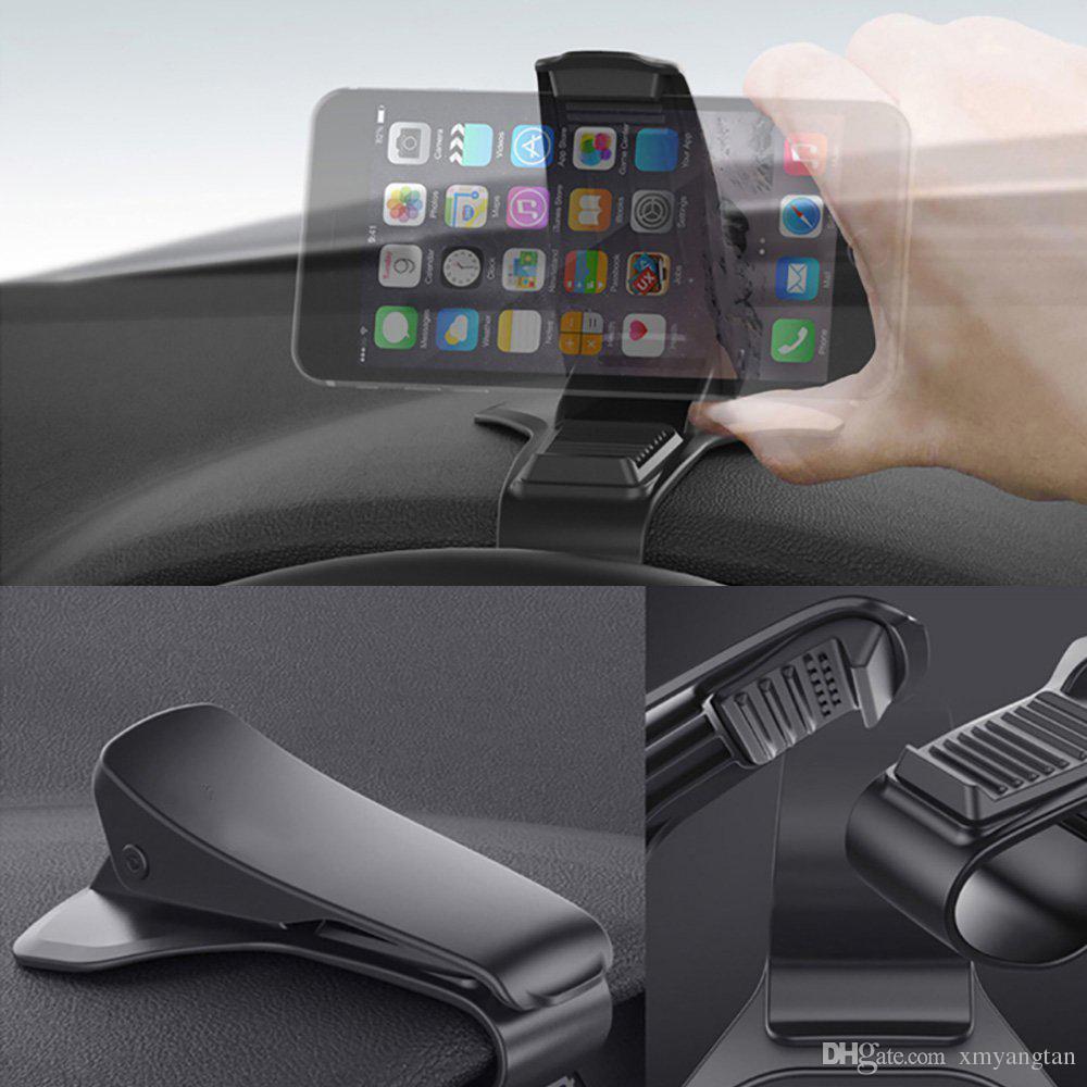 Evrensel araba dashboard tutucu standı hud tasarım klip smartphone araç tutucu cep telefonu aksesuarları cep telefonu standı