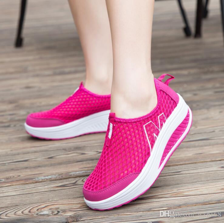 Scarpe da corsa in maglia Scarpe sportive da donna Scarpe da jogging sportive estive traspiranti Super estate femminile Scarpe da jogging