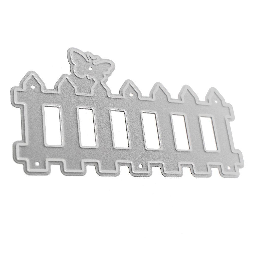 2018 Tencils For Diy Scrapbooking Metal Fence Cutting Dies Stencils ...