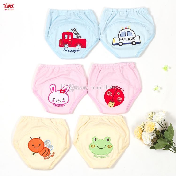 9d649a63f44f Compre Pañales Para Bebés Reutilizables Dibujos Animados Niños Bordados Bebé  Algodón Lavable Pantalones De Ropa Interior Pañales Bebé Aprendizaje  Pantalones ...