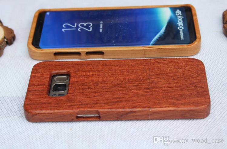 Niedrigster preis holz case für samsung galaxy s8 s9 plus s7 s6 rand einzigartige maßgeschneiderte holz bambus handy abdeckung für iphone 7 8 plus 6 x