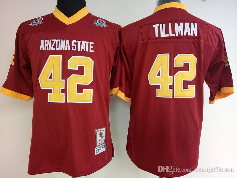 reputable site 7677e ae622 Women College jersey 42 Pat Tillman red University throwback jersey high  quality stitched shirt 2018 New arrival