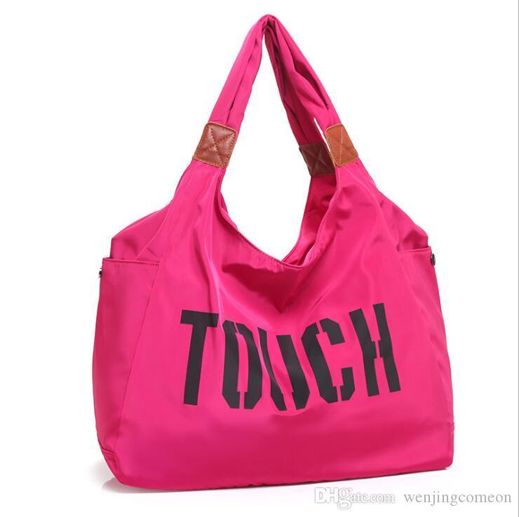 2018 Gym Bag Women Waterproof Sport Bag Outdoor Travel Shop Large Capacity  Handbag Multifunction Training Shoulder Bags Mummy Bags Online with   15.63 Piece ... beba7fc32d54a