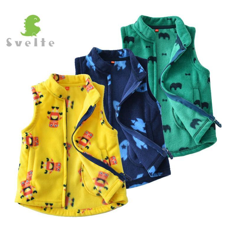 3f22c1a77 SVELTE For Spring Fall Autumn Winter Children Boys Fleece Vest Fashion Kids  Woolen Prints Waistcoat Vetement Enfant Gilet Veste Y18102607 Warm Jackets  For ...