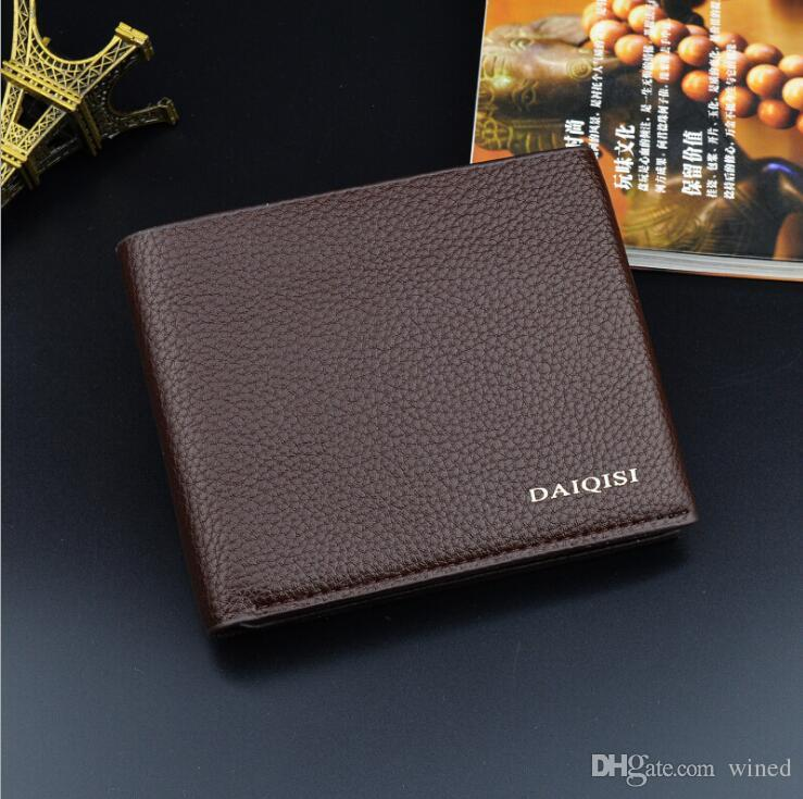 Classic luxury men's purse short clip MB artisan craft brand designer card case MT business card holder quality M B hot wallets