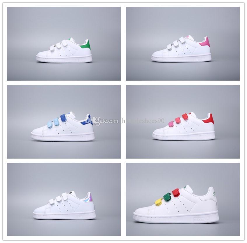 wholesale dealer 3138b 410e2 Compre Adidas Stan Smith 2018 Niños Zapatillas De Skate Zapatos Para Niños  Bebé Superstars Sneakers Originales Súper Estrellas Niñas Niños Deportes  Zapatos ...