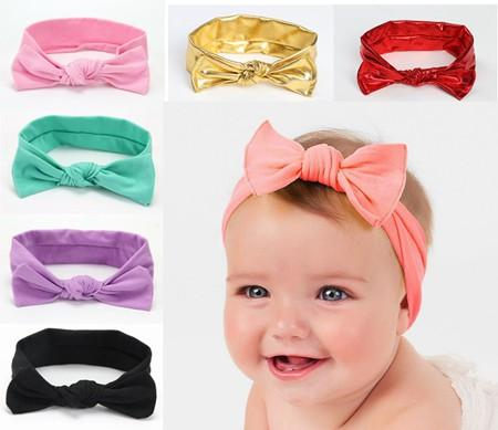 2018 Knot Baby Headbands For Girls Ear Cotton Headband Children Metal Solid  Hair Accessories Kids Gold Hair Bows Hairbands Head Wholesale Gold Hair ... b1ed6c5e386