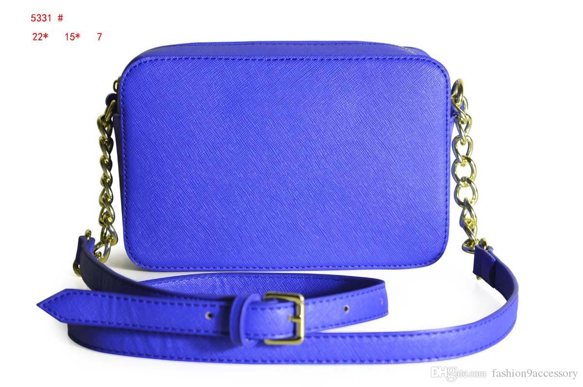 Borsa a tracolla classica di marca borsa a tracolla multicolore in vera pelle Borsa a catena con cerniera Messenge Accessori moda donna