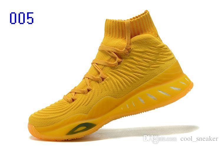 Adidas Andrew Wiggins Crazy Explosive Primeknit Crystal White Trace Calcetines de punto caqui para hombre Zapatos de baloncesto Zapatillas de baloncesto