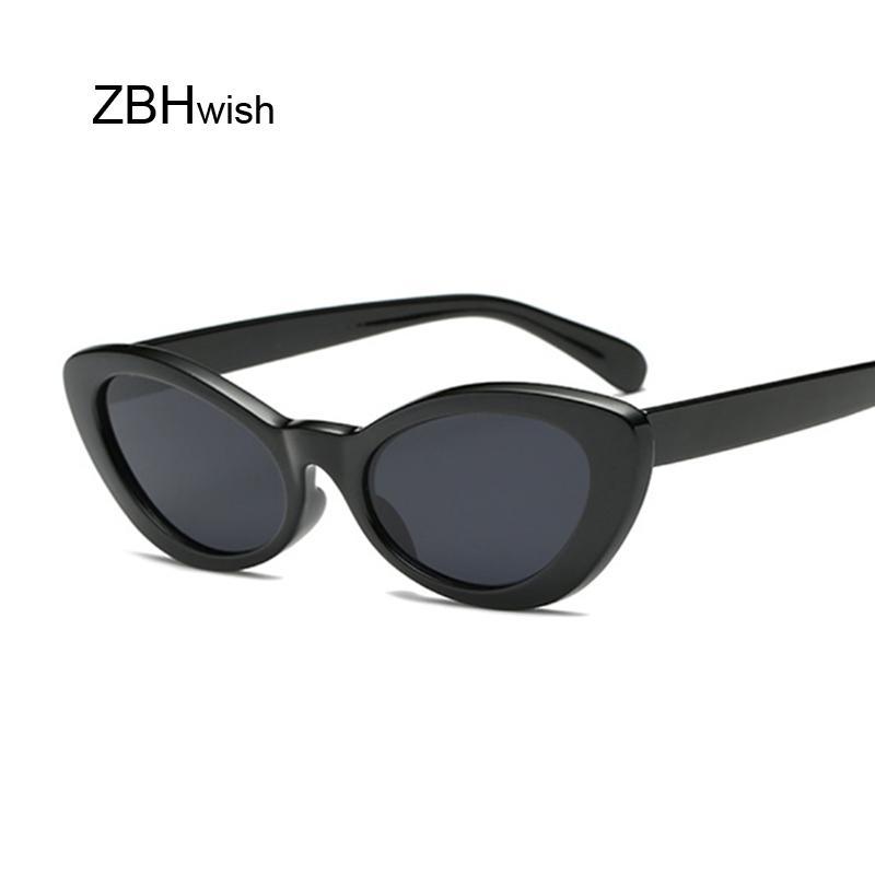 5316cf0e05 Small Oval Sunglasses Women Cat Eye Brand Designer Vintage Retro Skinny  Cateye Frame Tiny Sun Glasses Female Shades Baseball Sunglasses John Lennon  ...