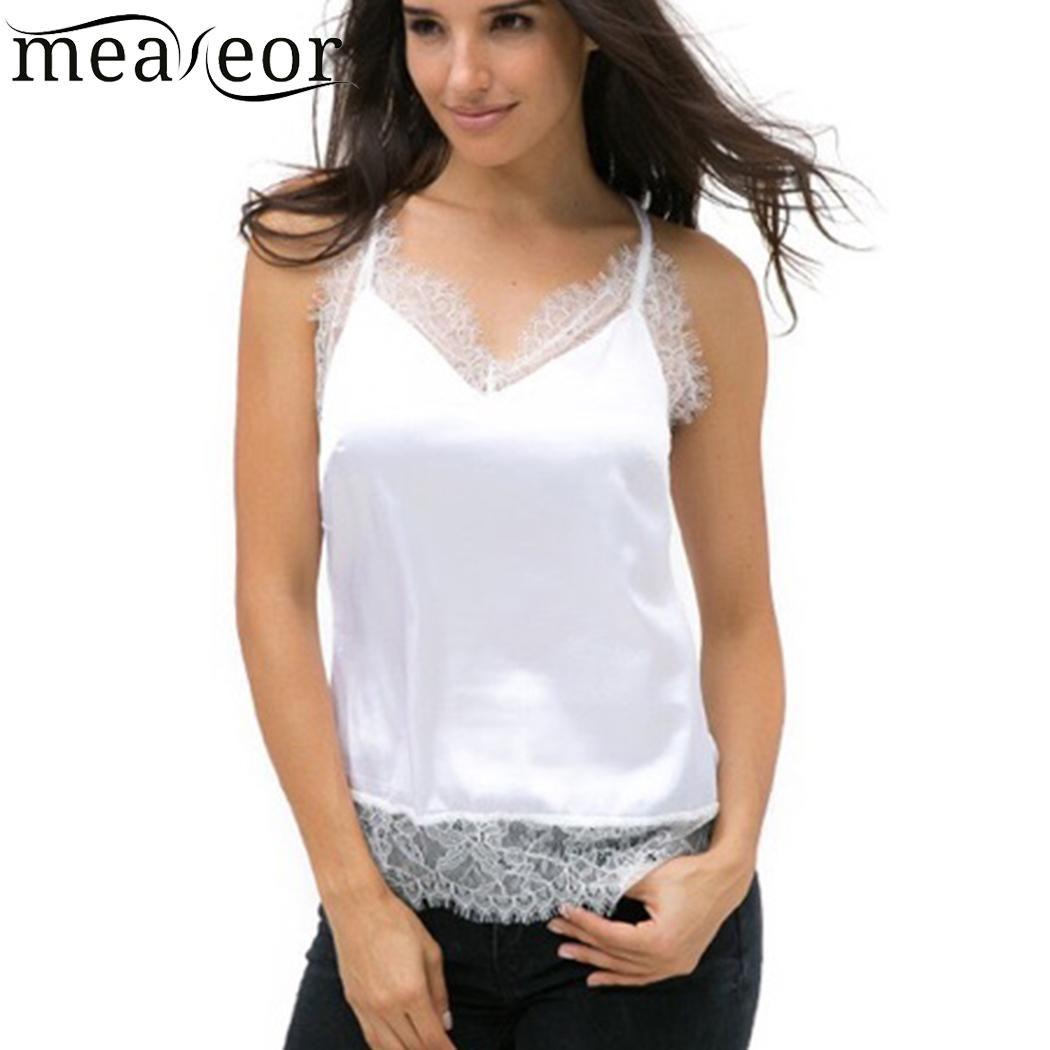 2ddf934fe28 2019 Sleeveless Sexy Camisole V Neck Women Lace Trim Cami Tank Tops From  Bida Amy