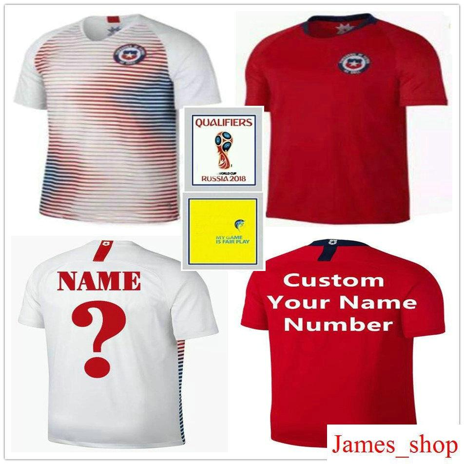 9e5c92499fe 2019 2018 World Cup Chile Soccer Jersey 7 ALEXIS SANCHEZ VIDAL MEDEL  VALDIVIA VARGAS HERNANDEZ Zamorano Custom Red White Football Shirt Uniform  From ...