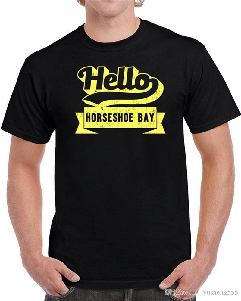 T Shirt Ideas Mens Short Sleeve Zomer O Neck Hello Horseshoe Bay T