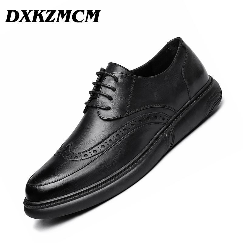c1bdde0c616 DXKZMCM Men Dress Shoes Formal Wedding Leather Shoes Retro Brogue ...