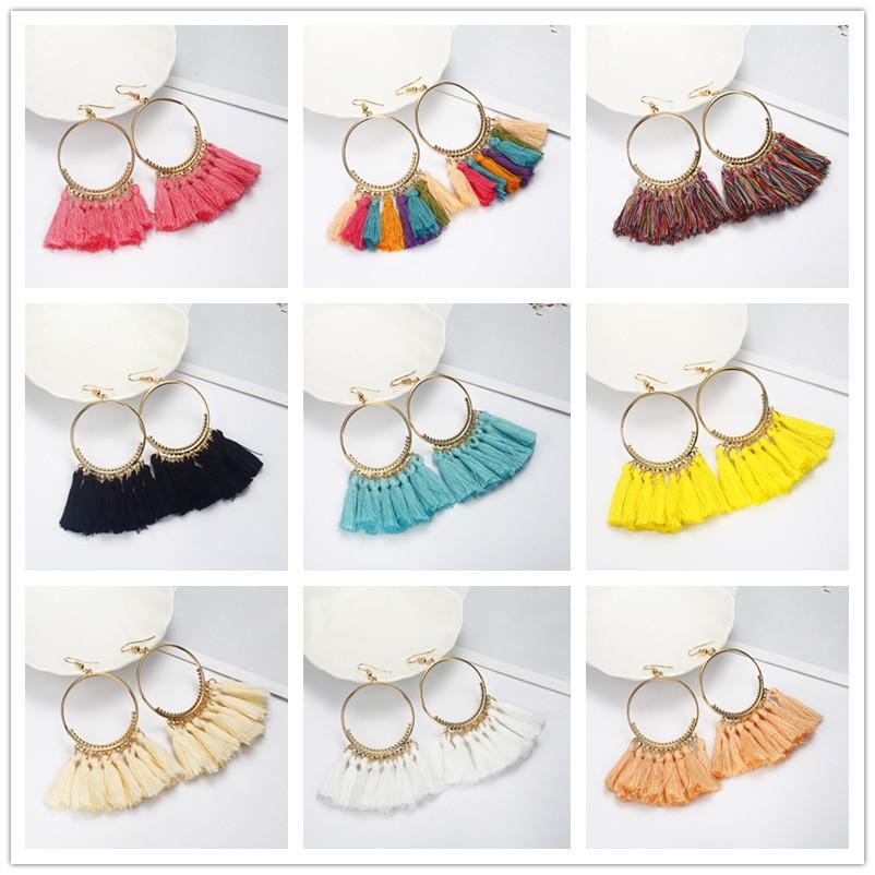 50c271f6c 2019 2018 Brincos Women Boho Drop Dangle Fringe Earring Vintage Ethnic  Statement Tassel Earrings Fashion Jewelry E0101 From Handanxuebu, $19.68 |  DHgate.Com