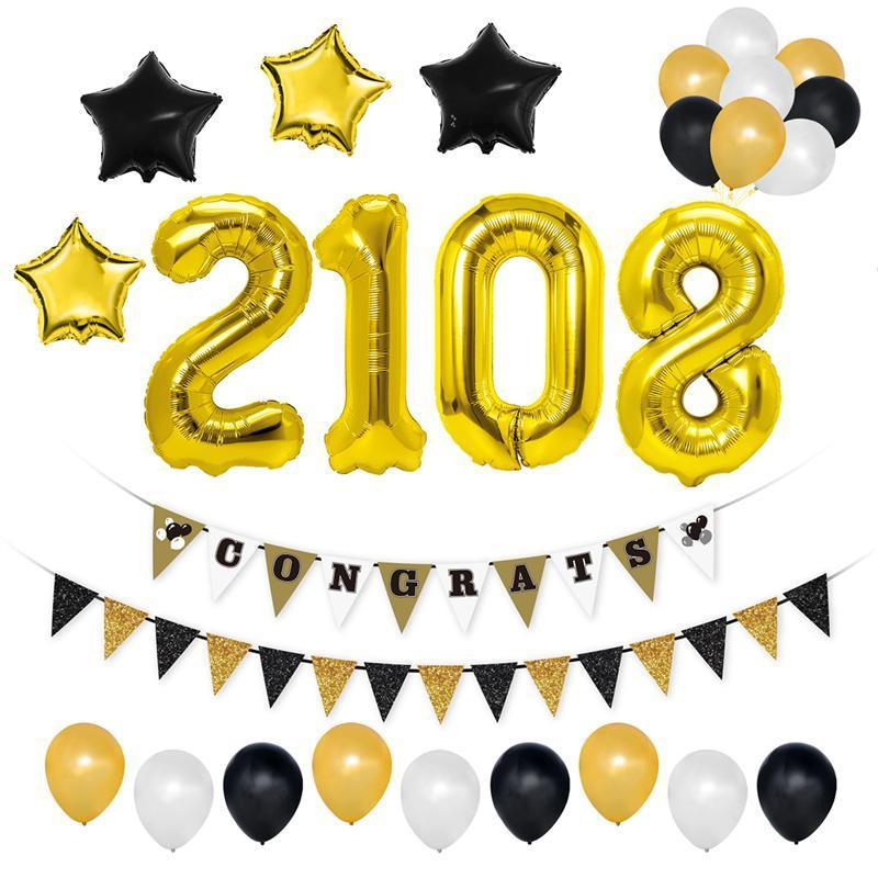 2019 2018 graduation congrats banners balloons kit graduation party