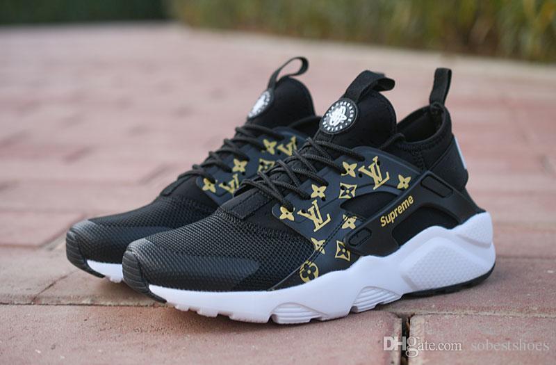reputable site a9a60 da050 2019 SUP 2018 Air Huarache 4.0 Classical White Black Men Women Huaraches  Running Shoes Harache Trainers Sports Huraches Sneakers Size Eur 36 45a3  From ...