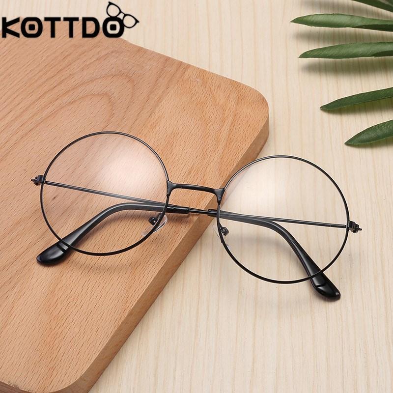 9a88144c93 2019 KOTTDO Retro Flat Mirror Metal Frame Eyeglasses Men Round Eye Glasses  Frames For Women Eyewear Frames Oculos De Grau Feminino From Htiancai