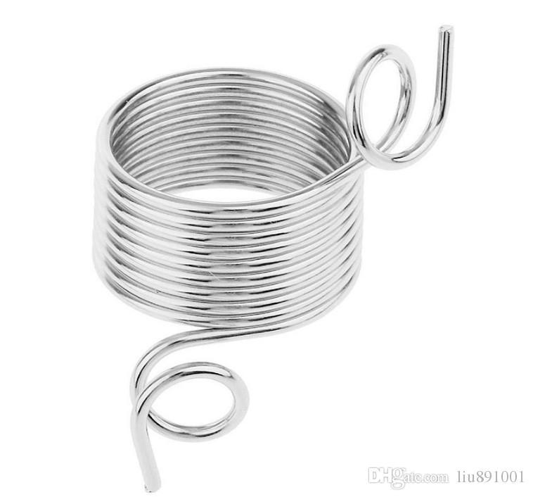 Tipo di anello Utensili maglieria in metallo Indossare le dita Ditale Guida del filo Guide in acciaio inossidabile Ditale Ago Accessori cucire