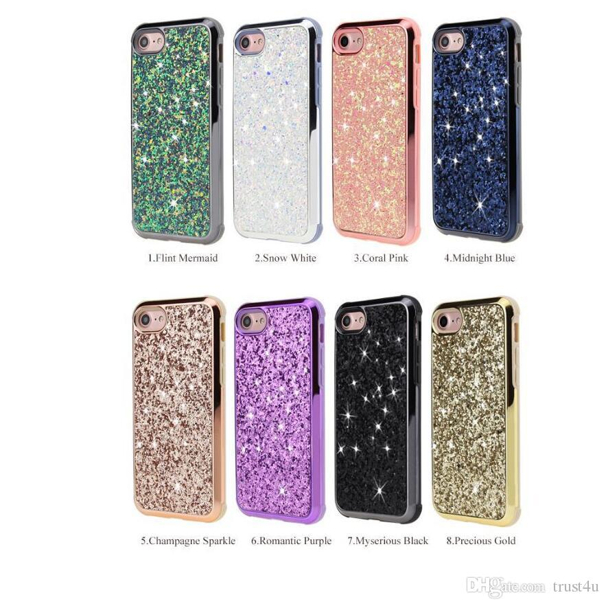 uk availability 2d38e 1098c Luxury Diamond Case For Samsung Galaxy S9 Plus Note 8 Premium Bling 2 in 1  Luxury Diamond Case For iPhone X 8 Glitter Cases Opp Package